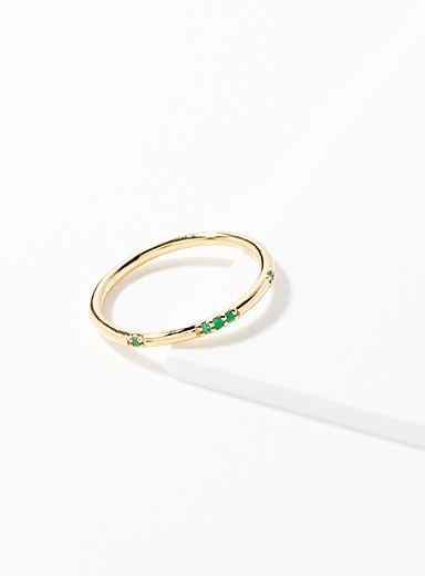 Emerald Stardust ring