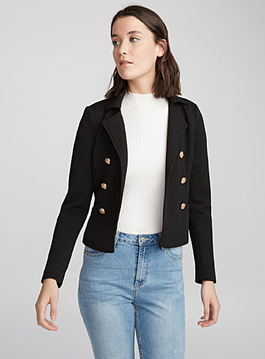 Cropped officer jacket