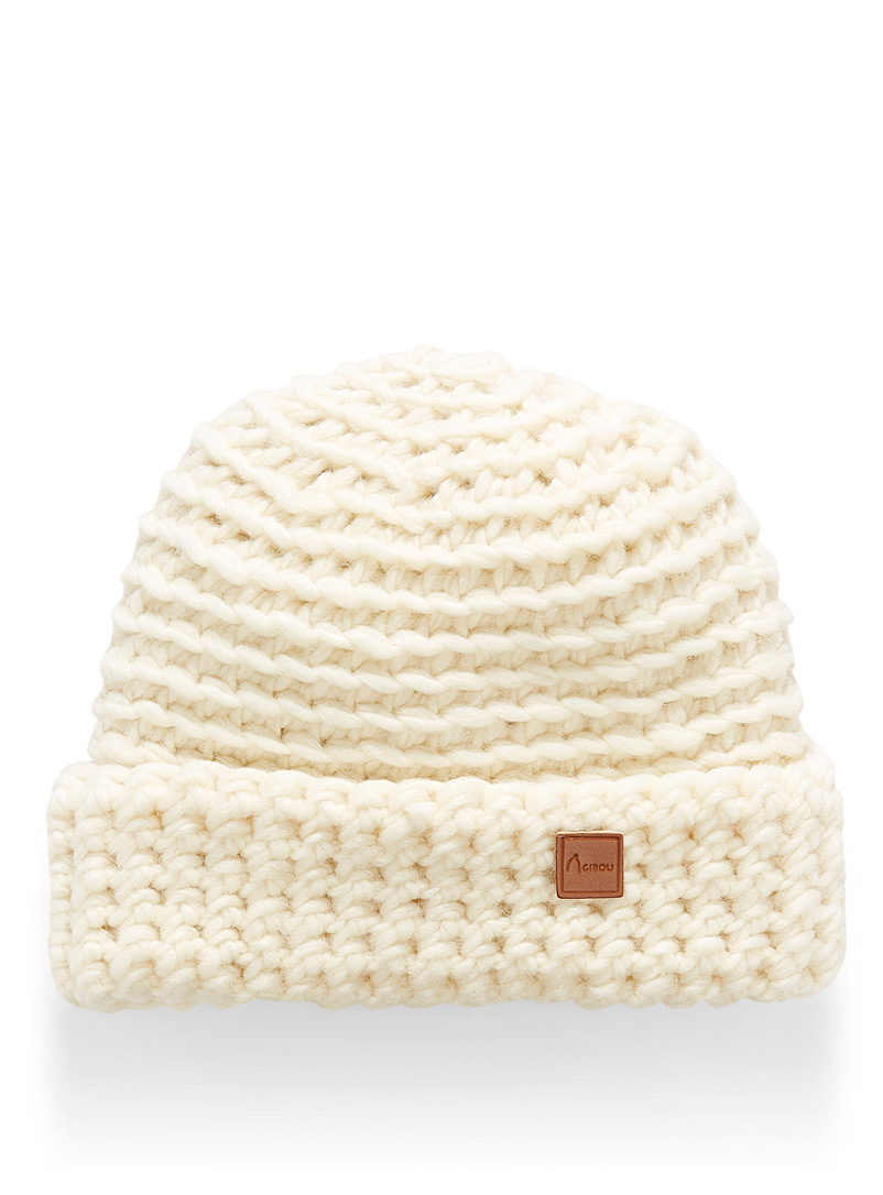 Adorable knit cuff tuque - Tuques & Berets - Ivory White