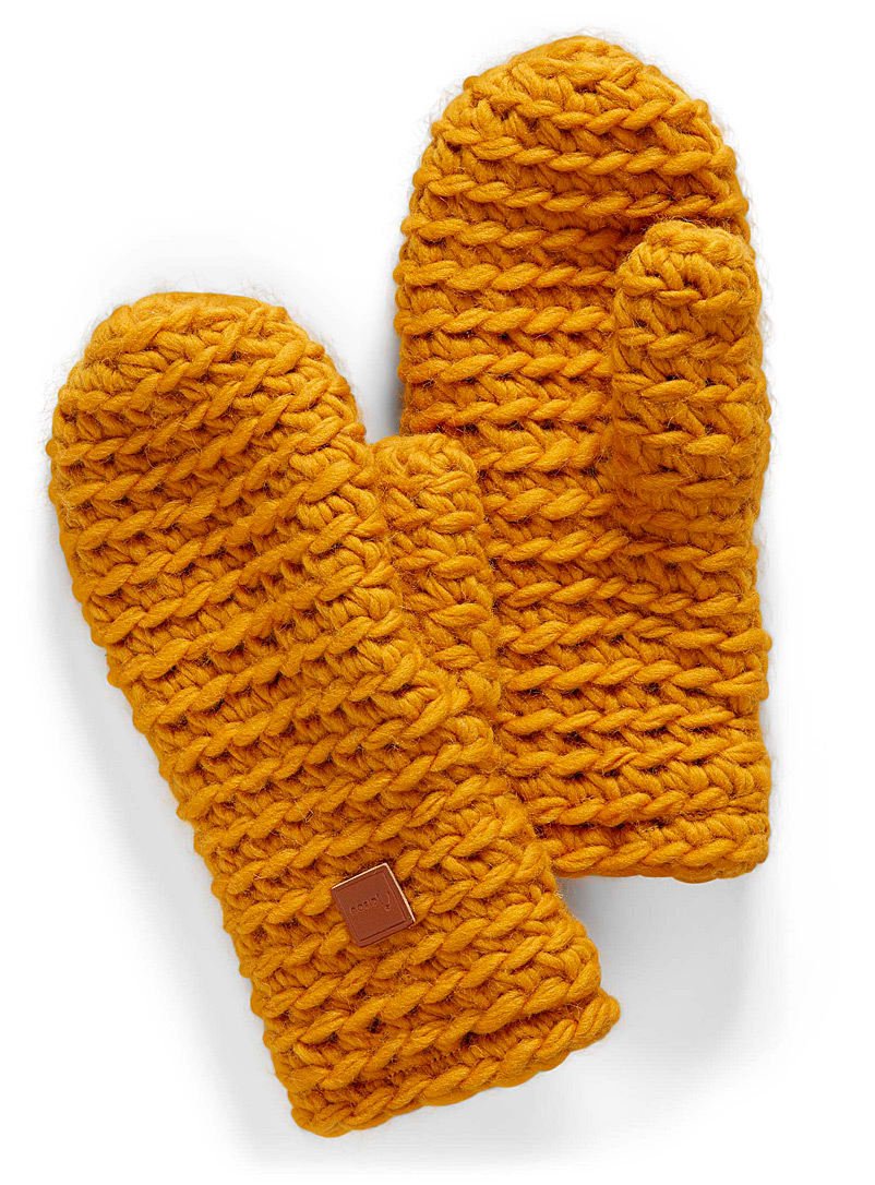 Adorable knitted mittens - Mittens - Golden Yellow