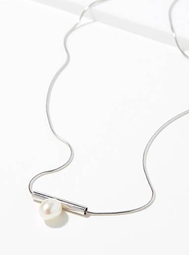 Jean bastien Silver Modern pearl necklace for women