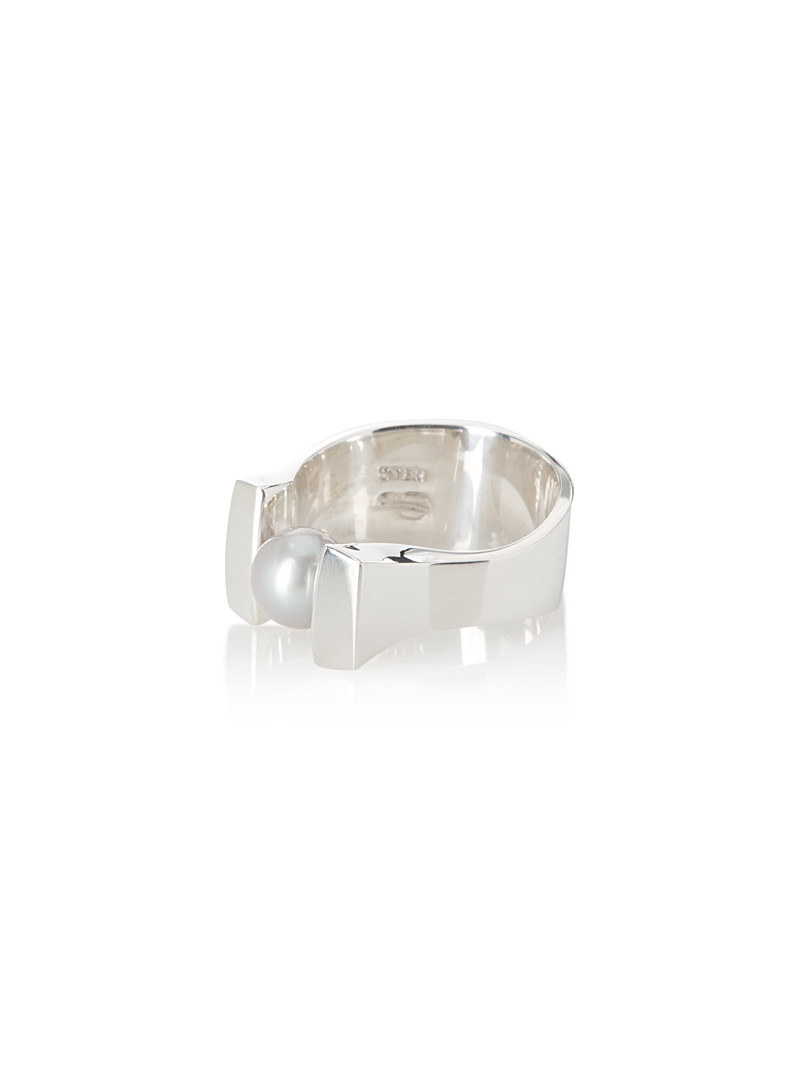 Jean bastien Silver Pearly 27 ring for women