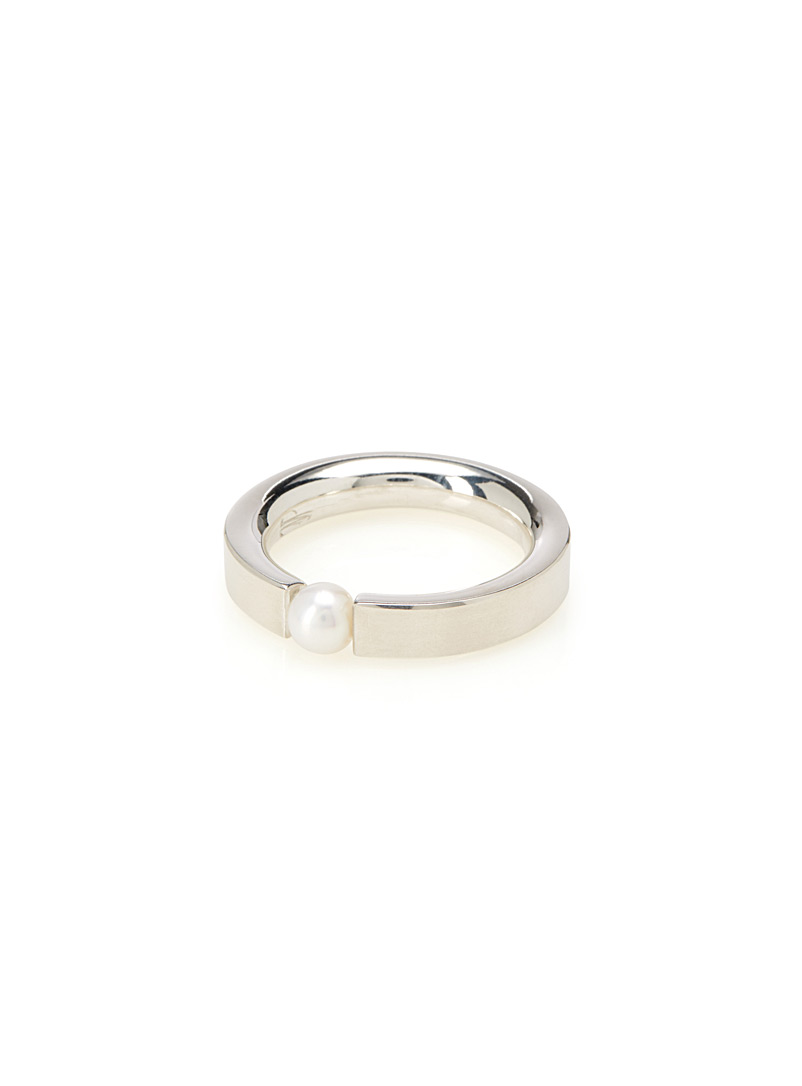 Jean bastien Silver 28 pearly ring for women