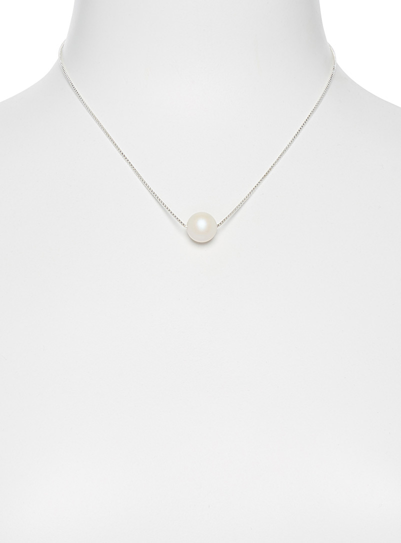 Le collier perle luminescente - Colliers - Blanc