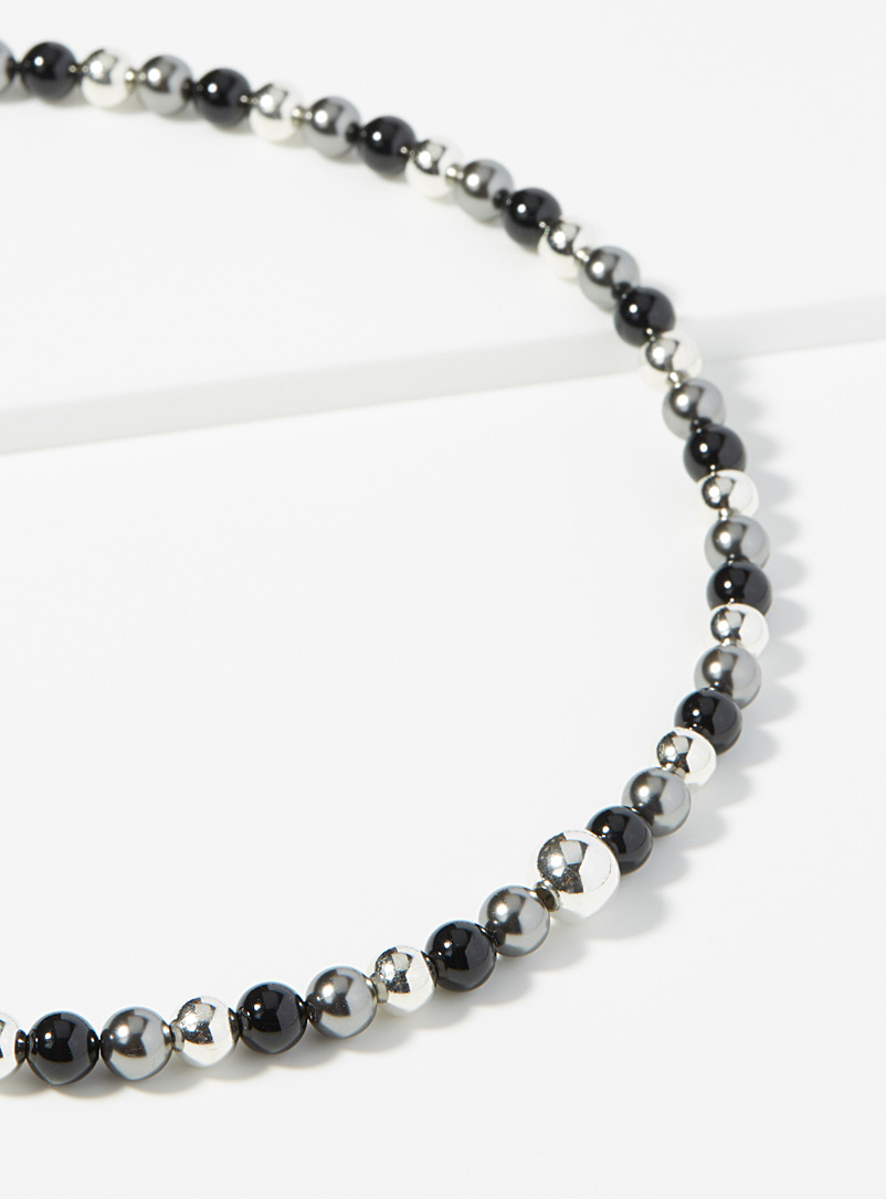 Le collier anthracite effet miroir - Colliers