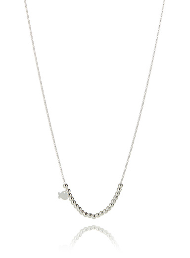 Mini bead silver necklace