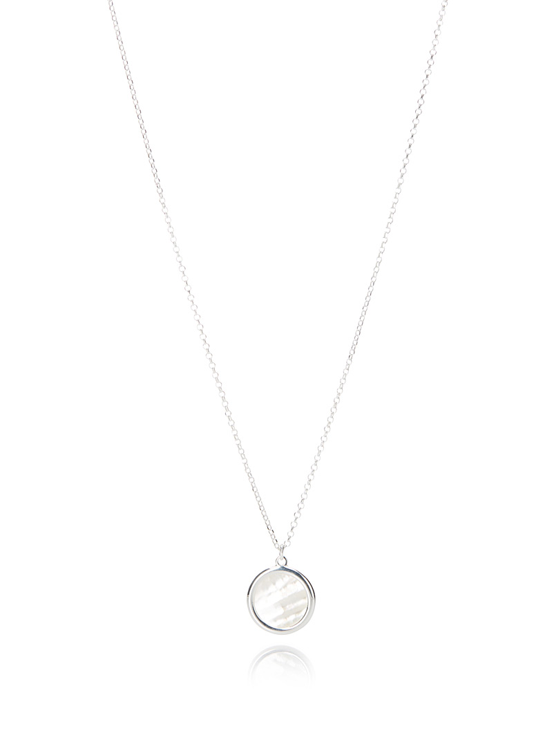 Pearly pendant necklace - Designer Jewellery - Silver