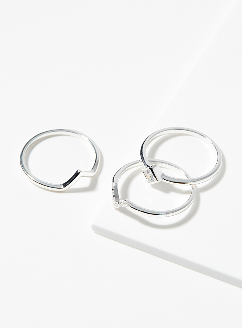 Layering V rings Set of 3