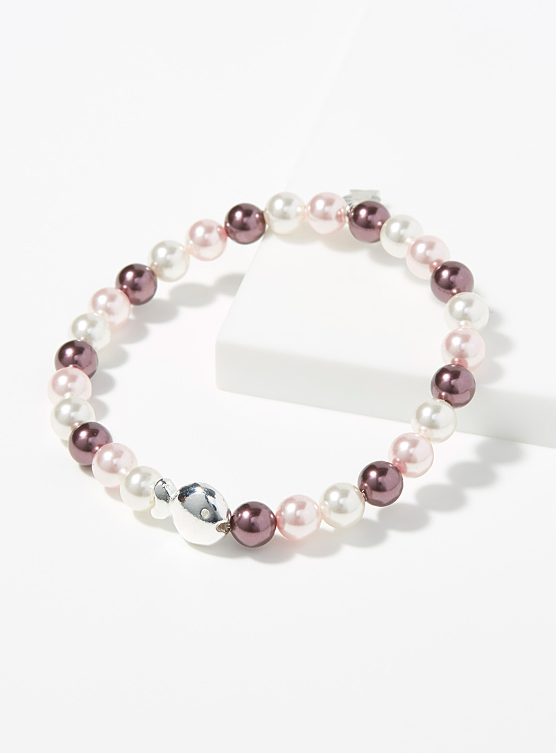 Purple pearl and fish bracelet - Bracelets - Red