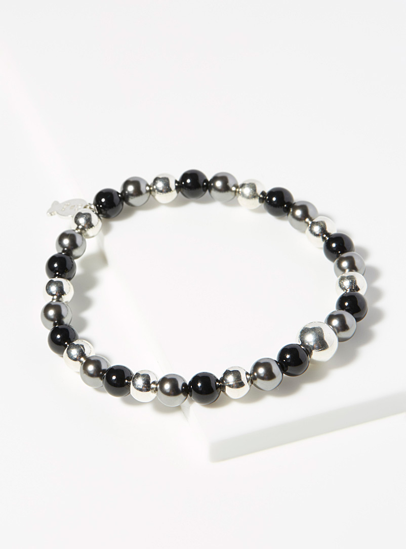 Mirror-like charcoal grey bracelet - Bracelets - Black