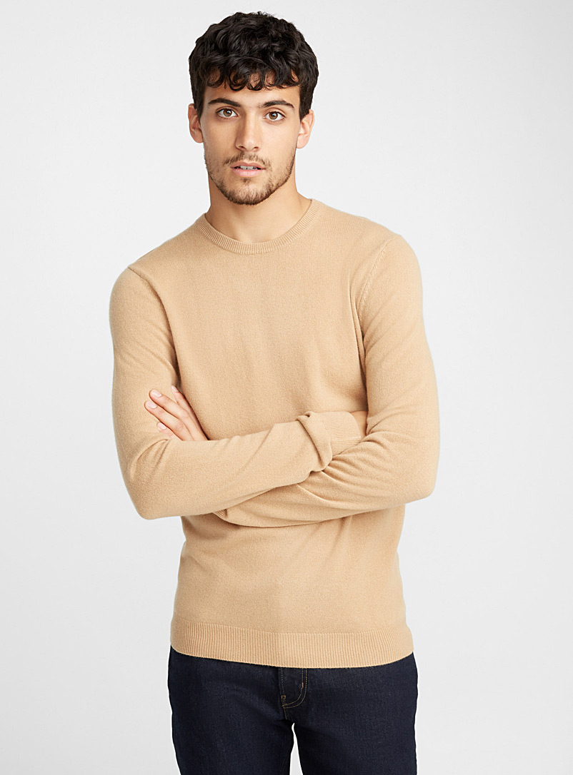 Le pull col rond pur cachemire - Cachemire - Sable