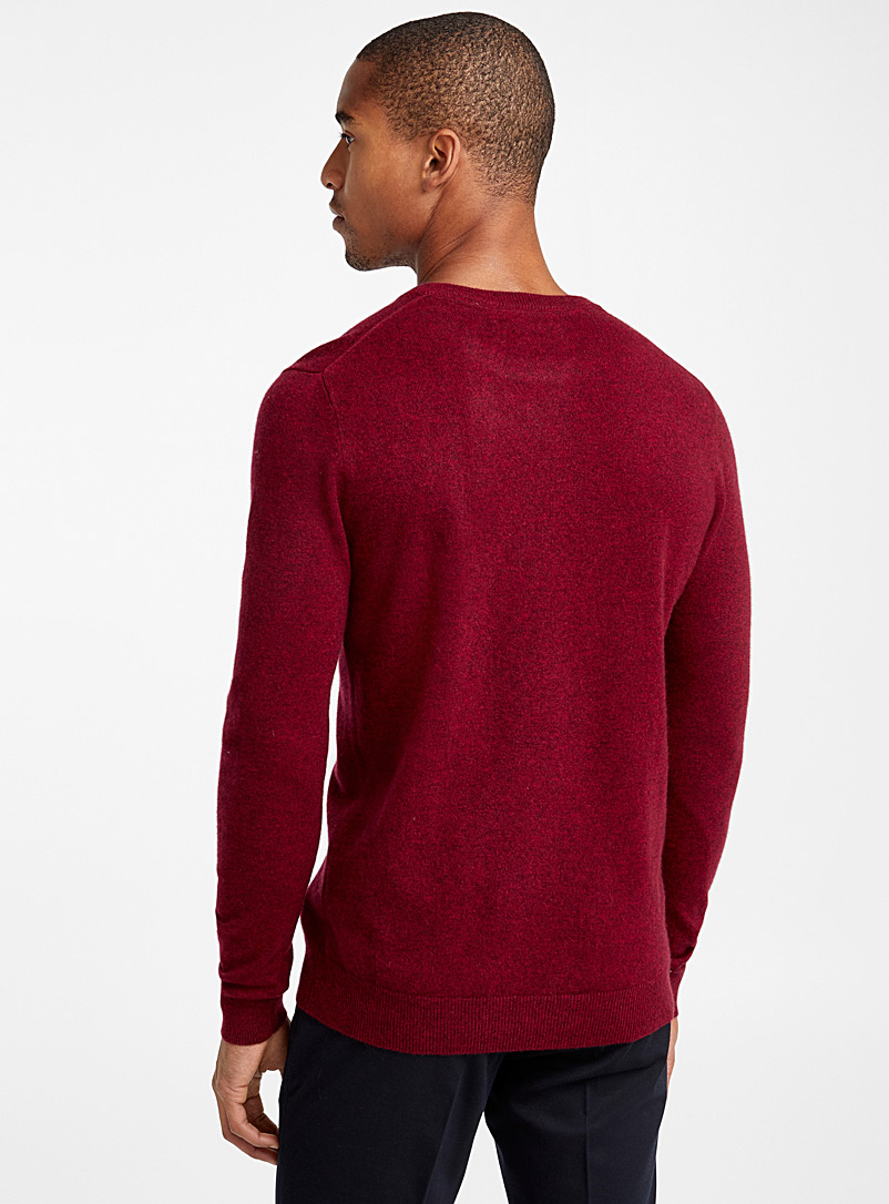 Pure cashmere crew-neck sweater - Cashmere - Cherry Red