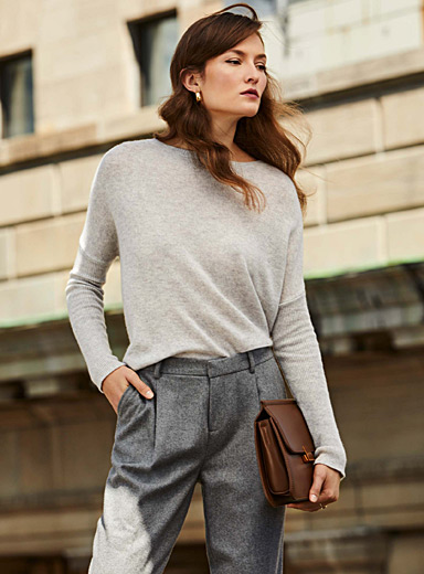 Pure cashmere cropped sweater