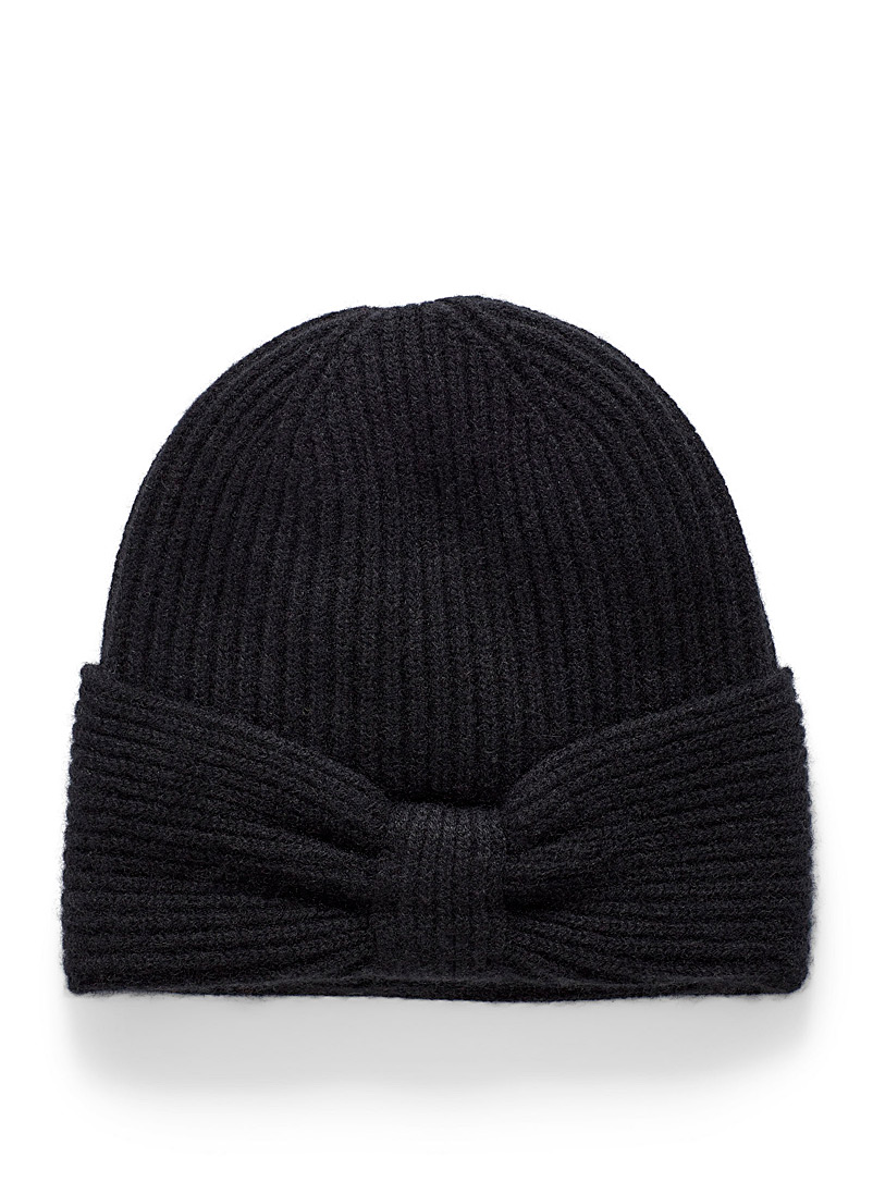 Knotted pure cashmere tuque