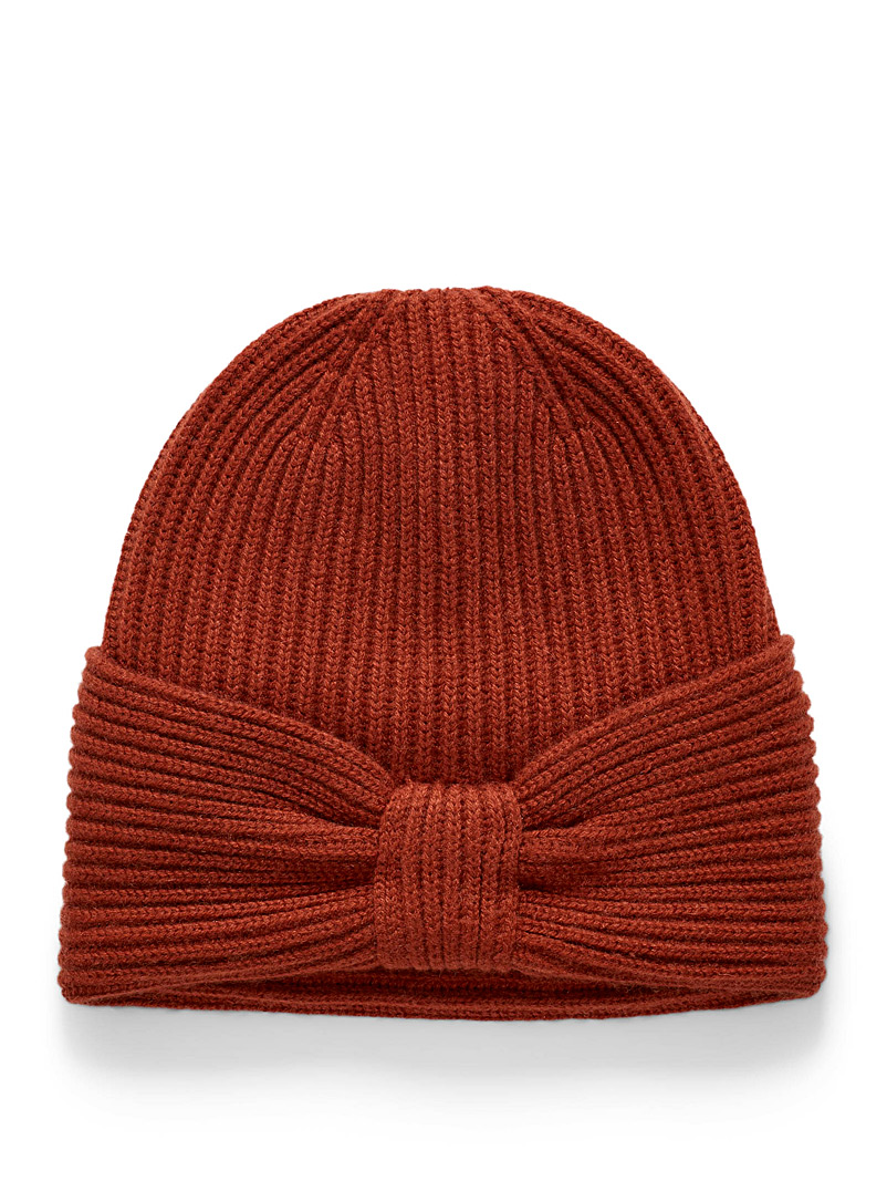 Turban-like pure cashmere tuque