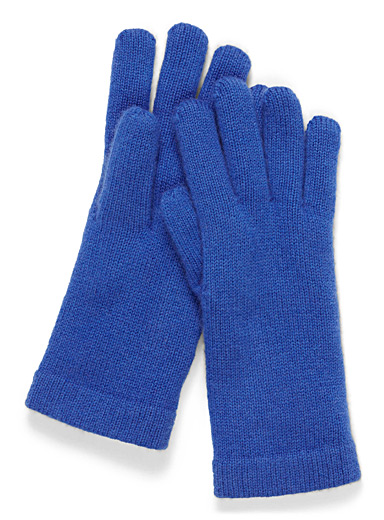 Simons Sapphire Blue Pure cashmere gloves for women