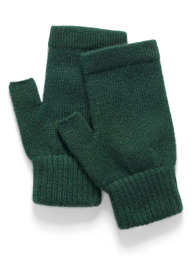 Simons Green Pure cashmere wrist warmers for women
