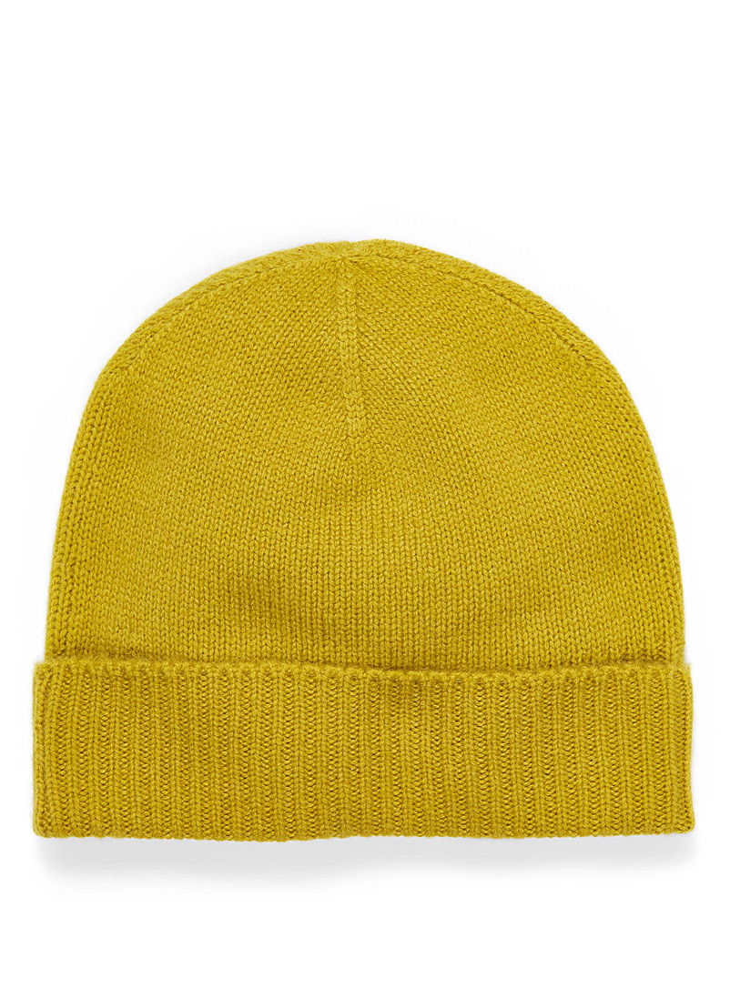 Pure cashmere tuque - Hats - Medium Yellow
