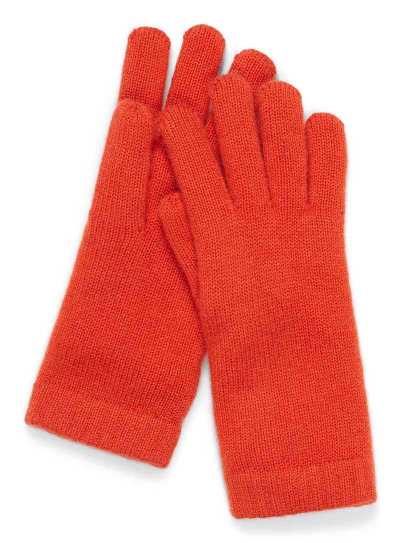 Le gant pur cachemire - Gants - Orange