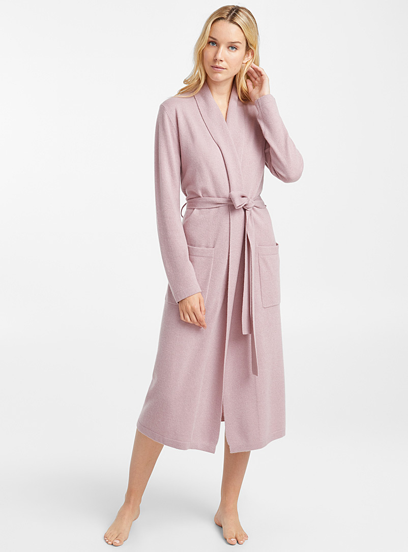 Pure cashmere robe - Sleepwear & Leisurewear - Pink