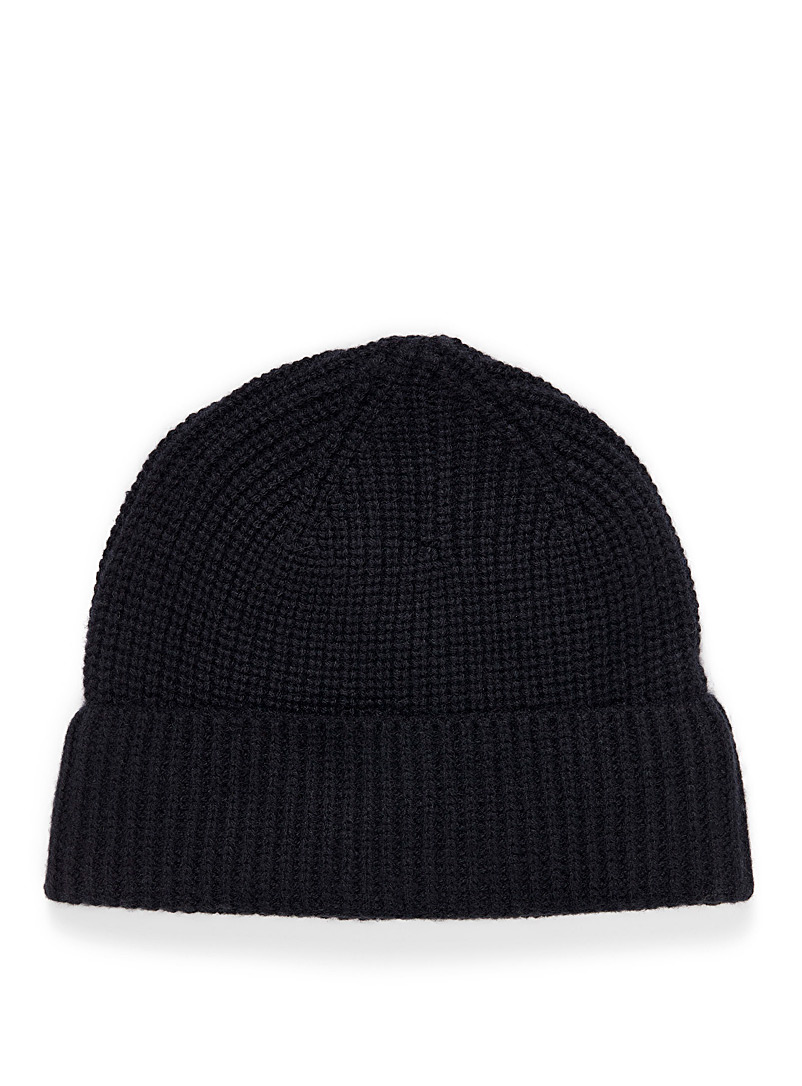 Le 31 Black Pure cashmere tuque for men