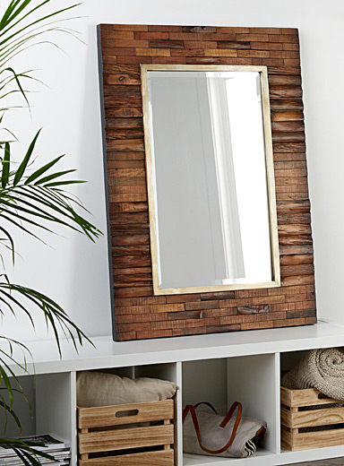 Exotic wood mirror