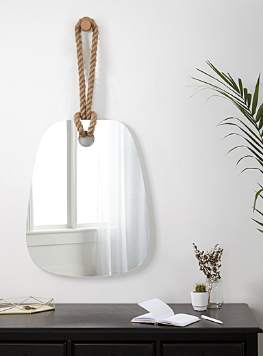Rustic rope mirror