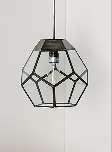 Multi-faceted hanging lamp