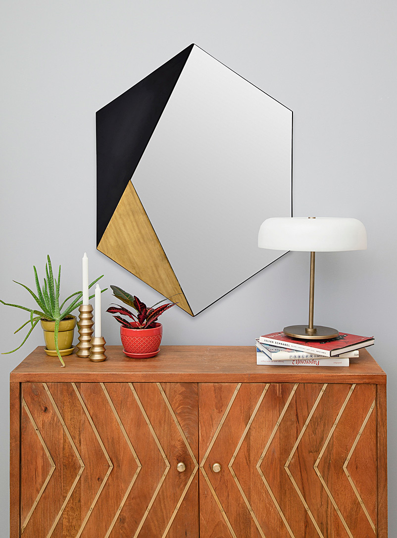 Simons Maison Assorted Fragmented hexagon mirror