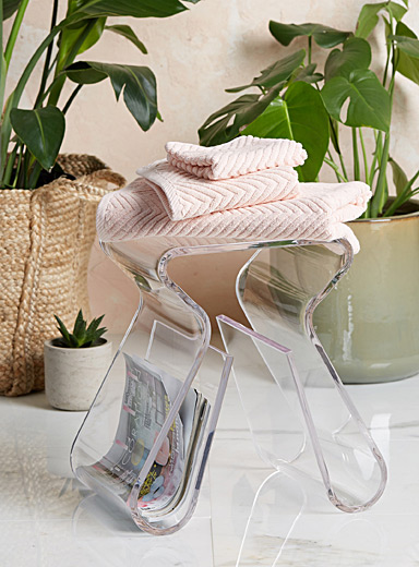 Transparent modern end table