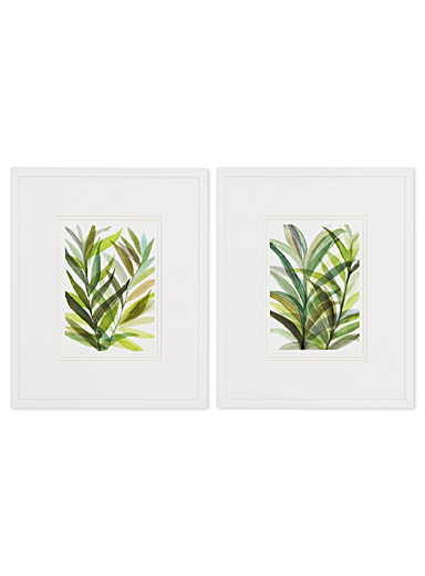 Tropical Greens 2-piece art print set <br>10