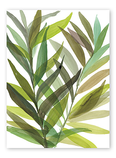 Tropical Greens I wall art  18&quote; x 24&quote;