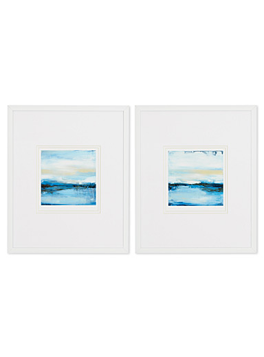 Dreaming Blue 2-piece art print set  10&quote; x 13&quote;