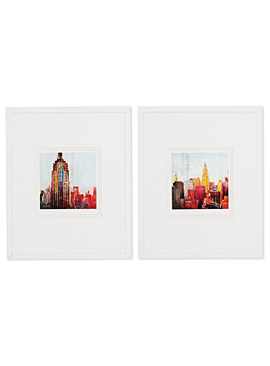 The City That Never Sleeps 2-piece art print set  10&quote; x 13&quote;