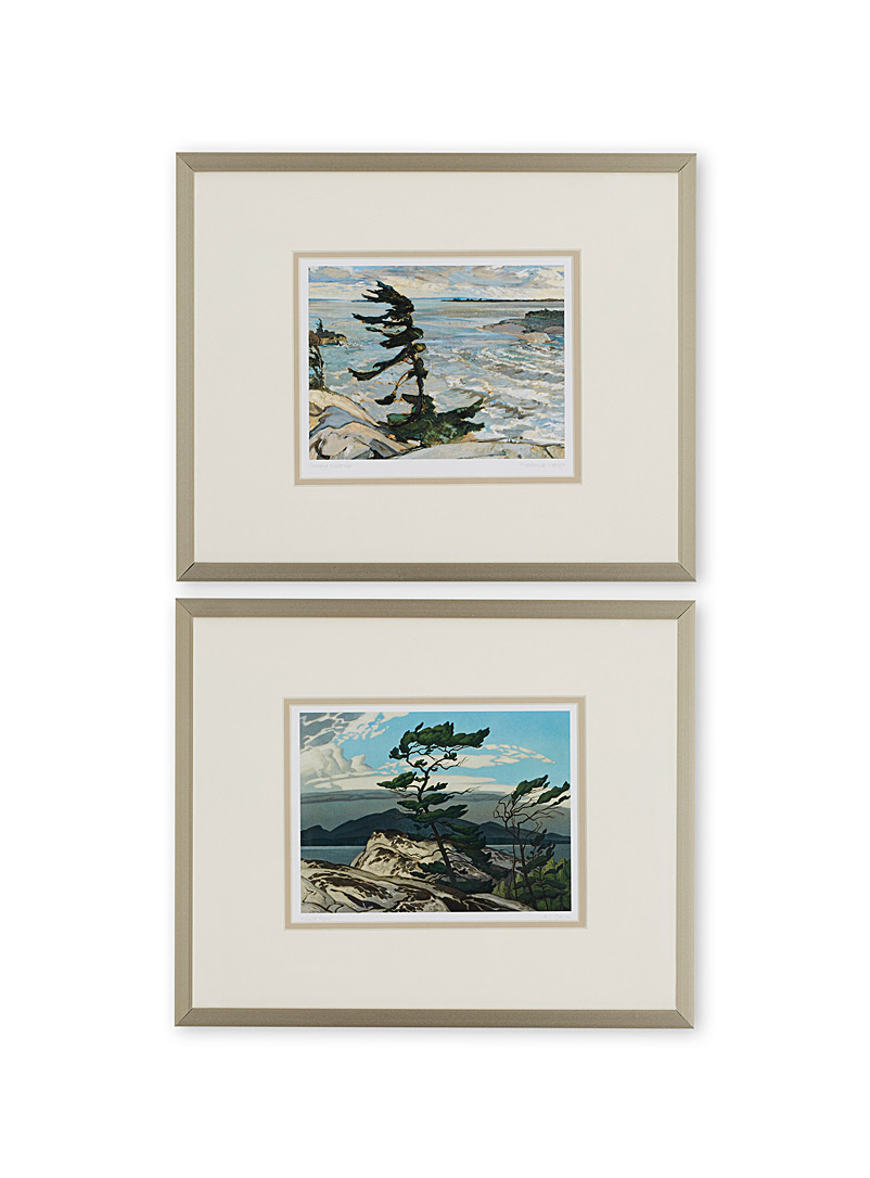 "Simons Maison Assorted White Pine 2-piece art print set  12"" x 14.25"""