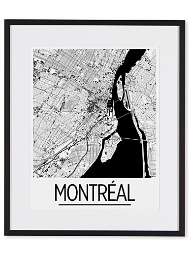 Map of Montreal art print  15&quote; x 18&quote;