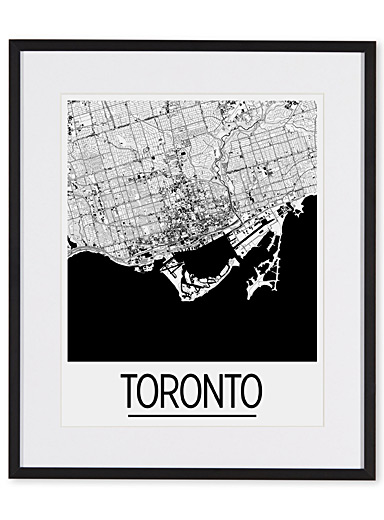 Map of Toronto art print  15&quote; x 18&quote;