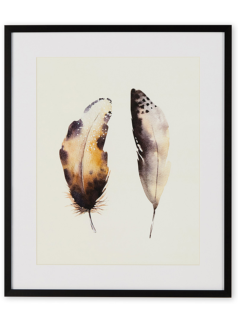 Tandem feathers I art print  15&quote; x 18&quote; - Graphic - Assorted