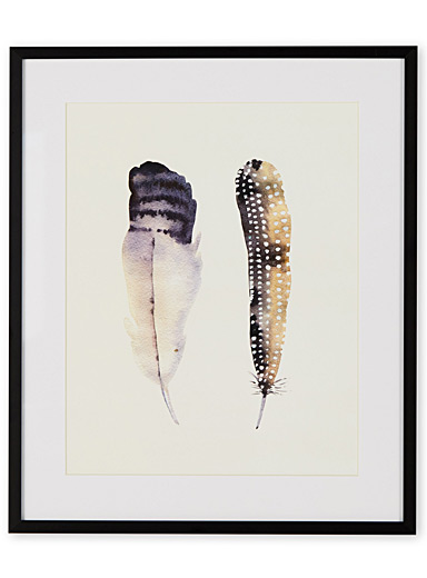 Tandem feathers II art print  15&quote; x 18&quote;