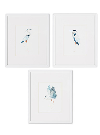Great heron 3-piece art print set  10.5&quote; x 13&quote;