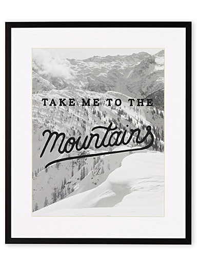 Mountain adventure art print  15&quote; x 18&quote;
