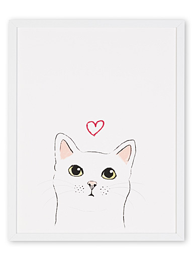 Kitten in love art print <br>11