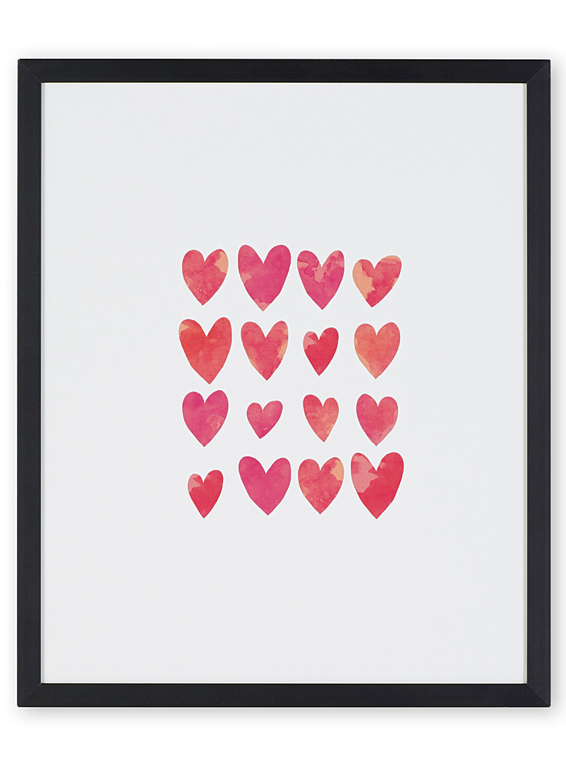 Heart-capturing art print  10.5&quote; x 13&quote; - Art - Black