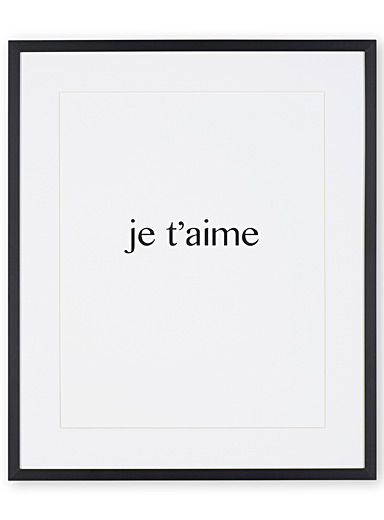 Je t'aime art print  13&quote; x 10.5&quote;