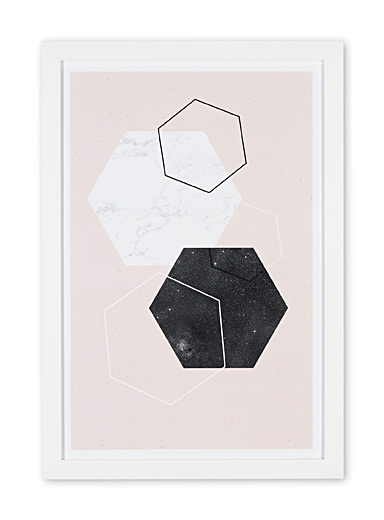 Diamond & marble art print  14&quote; x 20&quote;