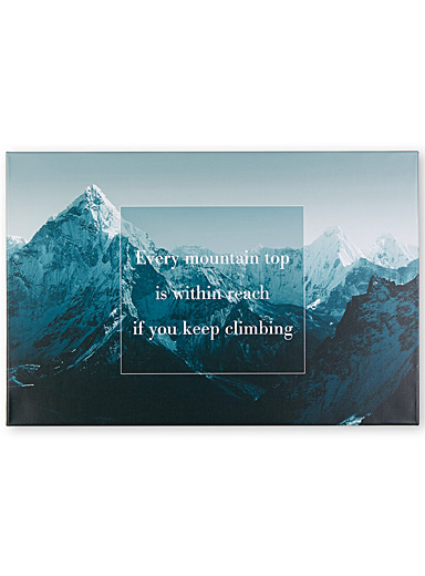 Move mountains wall art  36&quote; x 24&quote;