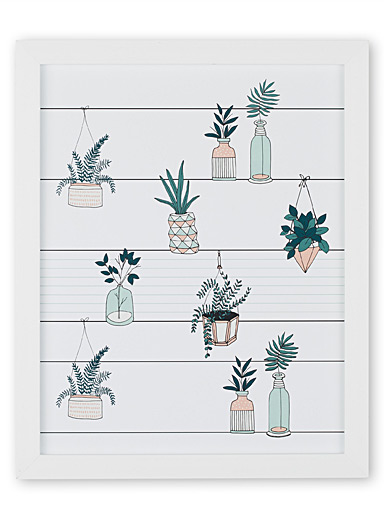 Botanical greenhouse art print <br>13