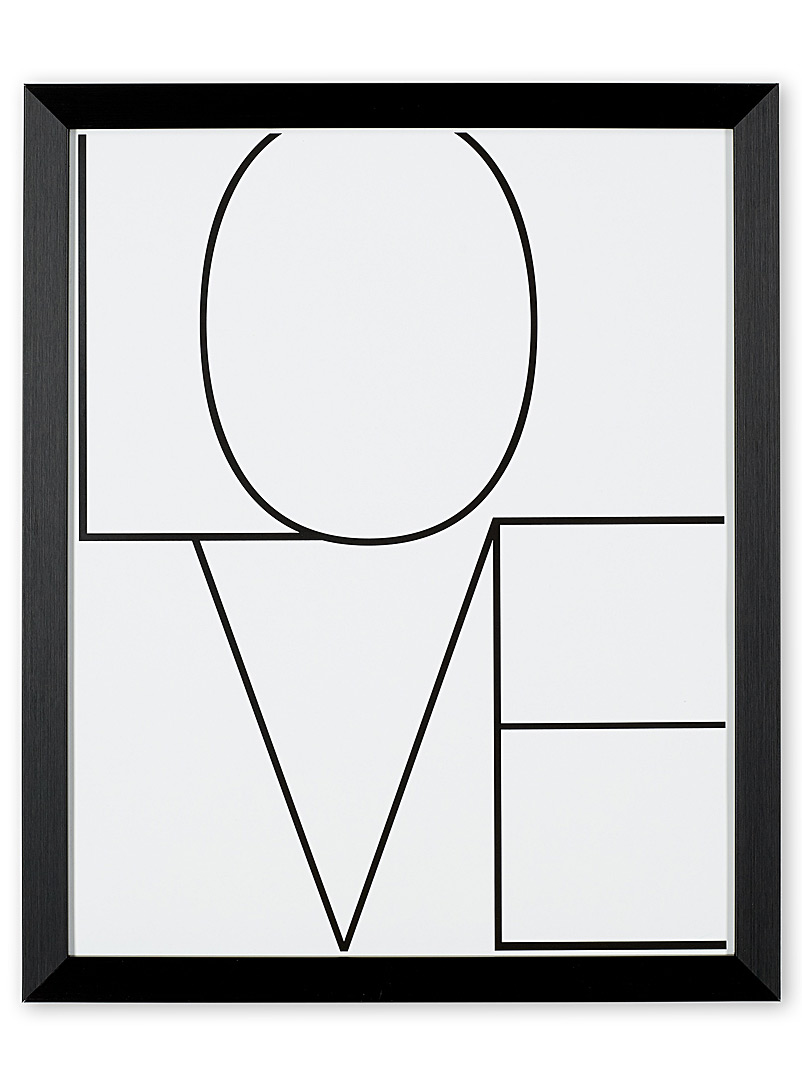 Love art print  14.5&quote; x 17.5&quote; - Graphic - Black and White
