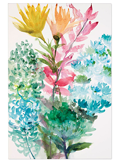 L'affiche bouquet multicolore