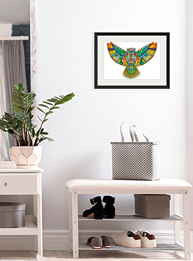 Great horned owl art print  18&quote; x 24&quote;